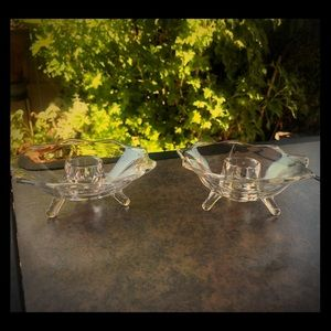 Beautiful set of Vintage Crystal candle holders